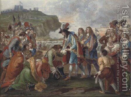 The arrival of King Charles II at Dover on 25 May 1660, after the Restitution by Jakob Walter - Reproduction Oil Painting