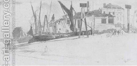 Chelsea wharf by James Abbott McNeill Whistler - Reproduction Oil Painting