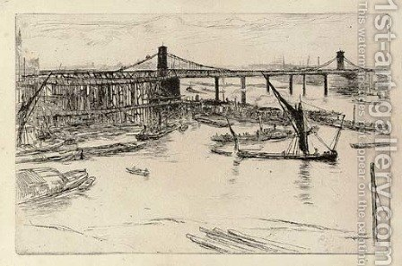 Old Hungerford Bridge by James Abbott McNeill Whistler - Reproduction Oil Painting