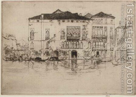 The Palaces, from Venice by James Abbott McNeill Whistler - Reproduction Oil Painting