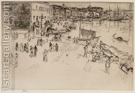 The Riva I by James Abbott McNeill Whistler - Reproduction Oil Painting