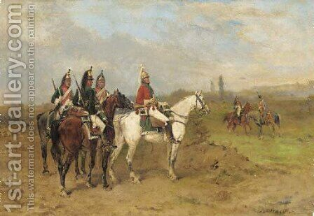 The reconnaissance by James Alexander Walker - Reproduction Oil Painting
