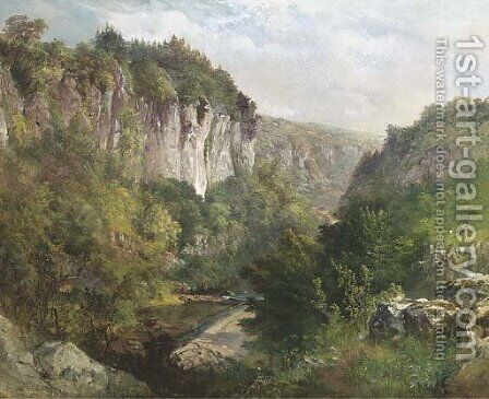 Lover's Leap, Buxton, Derbyshire by James Astbury Hammersley - Reproduction Oil Painting
