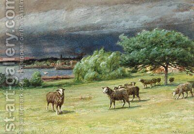 The Chicken House and A Coming Squall at Mattapoisett by James Brade Sword - Reproduction Oil Painting
