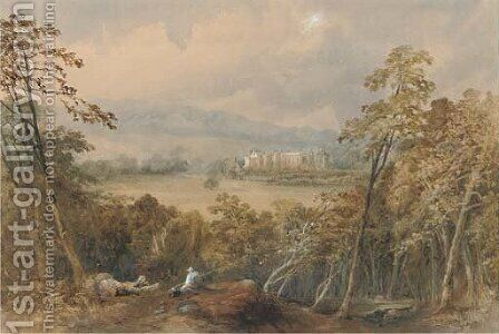 Guy's Cliffe House, Warwickshire by James Burrell Smith - Reproduction Oil Painting