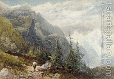 Mount Cenis, Italy by James Burrell Smith - Reproduction Oil Painting