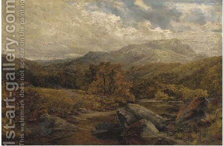 On the Llugwy, North Wales by James Callowhill - Reproduction Oil Painting
