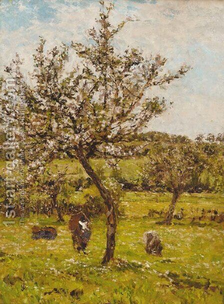 Early spring blossom by James Charles - Reproduction Oil Painting