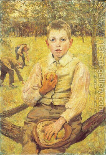 In the Orchard by James Charles - Reproduction Oil Painting