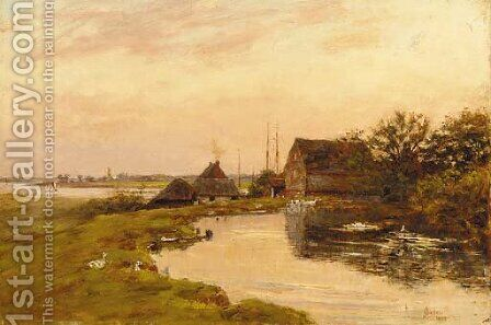 On the estuary by James Charles - Reproduction Oil Painting