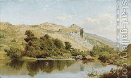 A still pool, in the Vale of the Lledr, North Wales by James Edward Grace - Reproduction Oil Painting