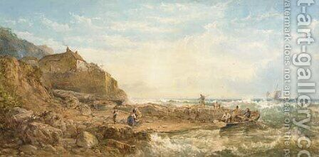 Fishermen returning home by James George Philp - Reproduction Oil Painting