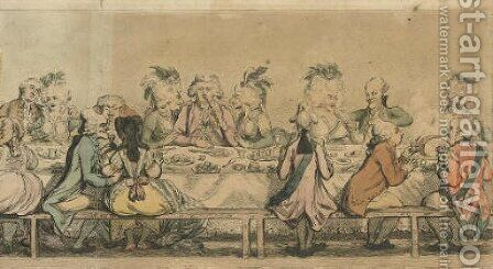 The Installation Supper, as given at the Pantheon by James Gillray - Reproduction Oil Painting