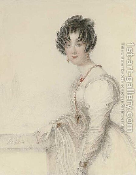 Portrait of a lady by James Green - Reproduction Oil Painting