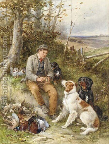 The Gamekeeper by James Hardy Jnr - Reproduction Oil Painting