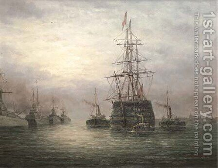 Saluting an old ally by James Hardy Jnr - Reproduction Oil Painting