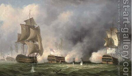The Glorious First of June, 1794 by James Hardy Jnr - Reproduction Oil Painting