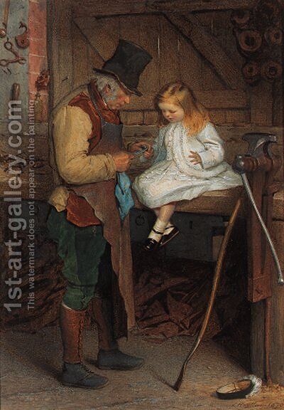 Bandaging the wounded finger by James Hayllar - Reproduction Oil Painting