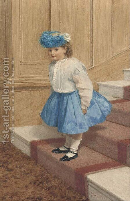 The little eavesdropper by James Hayllar - Reproduction Oil Painting