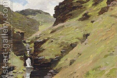 In the rocky valley, near Tintagel, Cornwall by James Hayllar - Reproduction Oil Painting