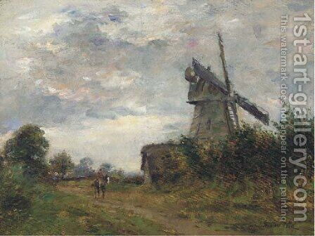 An Essex windmill by James Herbert Snell - Reproduction Oil Painting