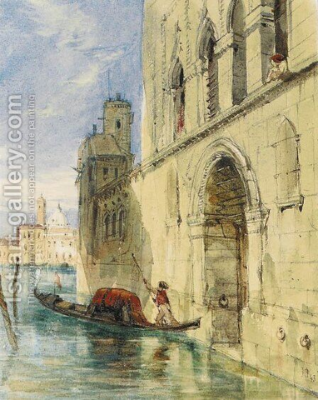 The Grand Canal, Venice by James Holland - Reproduction Oil Painting