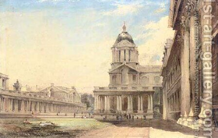 The Royal Hospital, Greenwich, London by James Holland - Reproduction Oil Painting