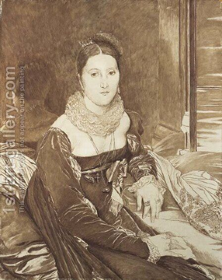 Portrait of Vicomtesse de Senonnes by James Jacques Joseph Tissot - Reproduction Oil Painting