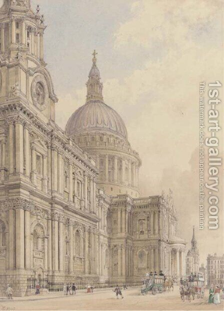 St. Paul's Cathedral by James Kelaway Colling - Reproduction Oil Painting