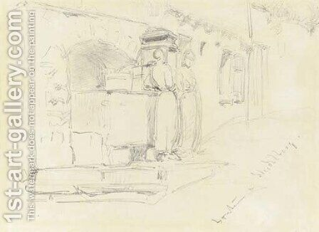 Fountain at Heidelberg by James Abbott McNeill Whistler - Reproduction Oil Painting