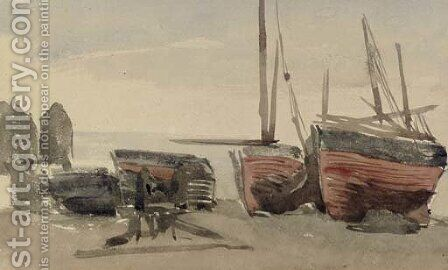 Hastings fishing boats by James Abbott McNeill Whistler - Reproduction Oil Painting