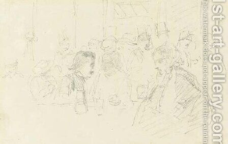 Interior of a Cafe by James Abbott McNeill Whistler - Reproduction Oil Painting