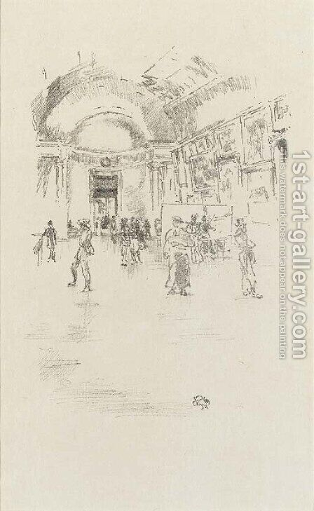 The Long Gallery, Louvre by James Abbott McNeill Whistler - Reproduction Oil Painting