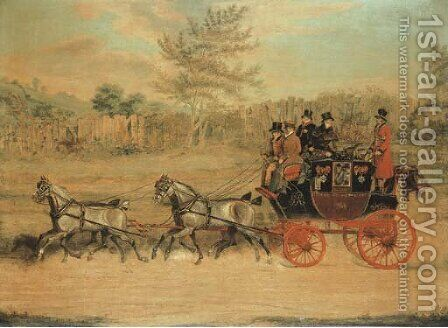 The London to Hastings Royal mail coach by James Pollard - Reproduction Oil Painting
