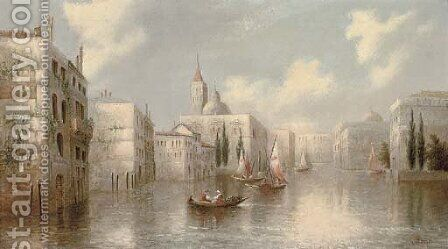 A Venetian capriccio 2 by James Salt - Reproduction Oil Painting