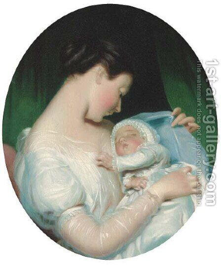 Maternity by James Sant - Reproduction Oil Painting