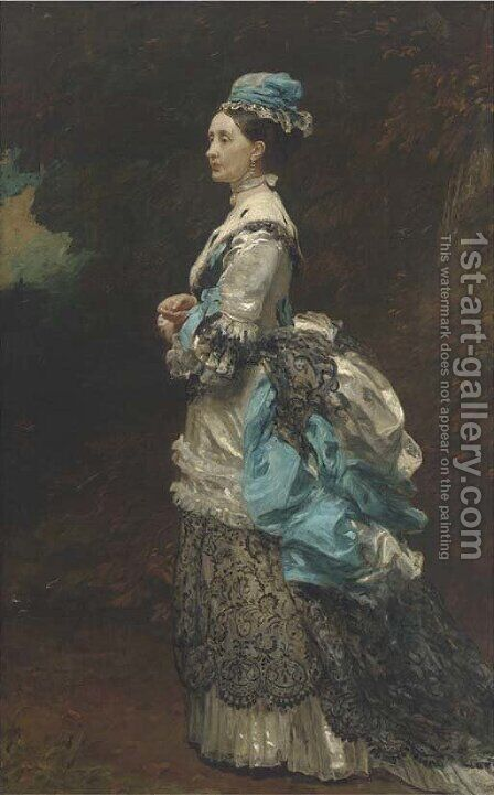 Portrait of Lady Marjorie Banks by James Sant - Reproduction Oil Painting