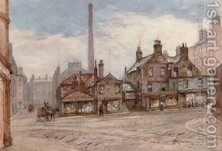 The grass market, Edinburgh by James Scott Kinnear - Reproduction Oil Painting