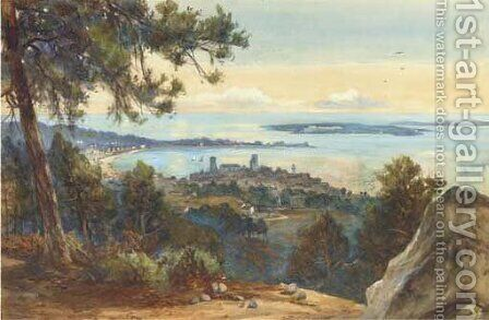 Cannes from Mont-Chevalier by James Scott Kinnear - Reproduction Oil Painting