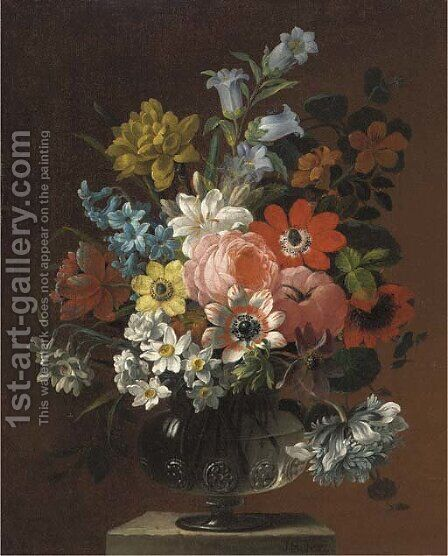 Flowers by James Sillett - Reproduction Oil Painting