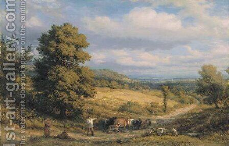 Afternoon by James Thomas Linnell - Reproduction Oil Painting