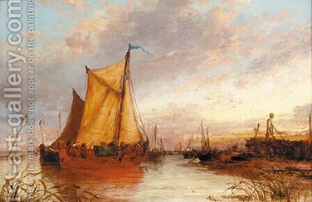 At Zaandan, Holland by James Webb - Reproduction Oil Painting