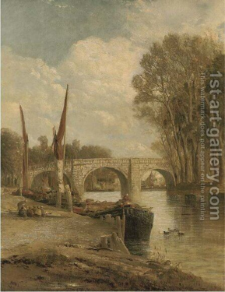 Kew Bridge, on the Thames by James Webb - Reproduction Oil Painting