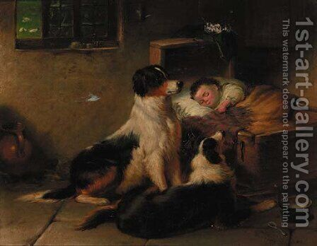 Faithful Friends by James Cole - Reproduction Oil Painting