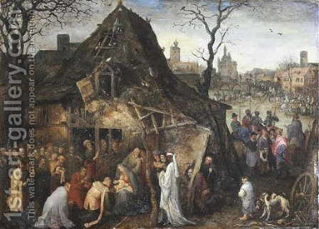 The Adoration of the Magi by Jan, the Younger Brueghel - Reproduction Oil Painting