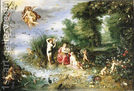 An Allegory of the Four Elements by Jan, the Younger Brueghel - Reproduction Oil Painting
