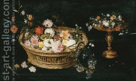 Roses by Jan, the Younger Brueghel - Reproduction Oil Painting