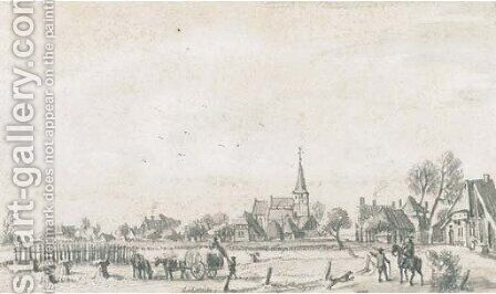 View of Duiven, near Cleves by Jan De Beyer - Reproduction Oil Painting