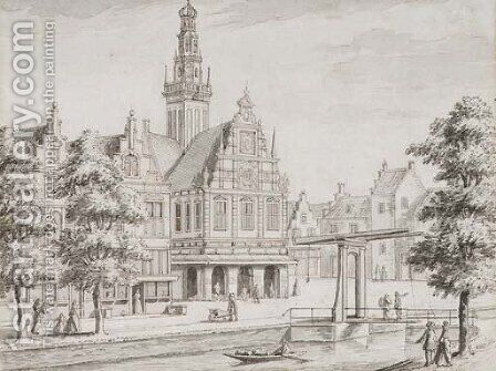 The Waag at Alkmaar by Jan Goeree - Reproduction Oil Painting