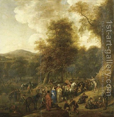 Saint John the Baptist preaching in the Wilderness by Jan Steen - Reproduction Oil Painting